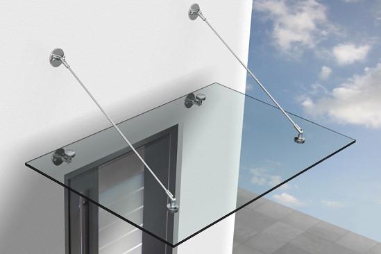 Vordachsystem · Lieferung ohne Glas!