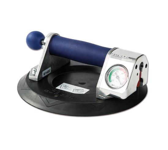 Veribor® blue line Zugpumpensauger mit Manometer, im Koffer