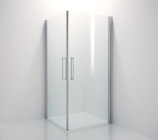 Zuhanyajtó vasalata Aqua üveg-fal 90° a 8 mm