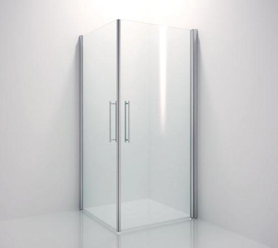 Duschtürbeschlag Aqua Glas-Wand 90° für 8 mm