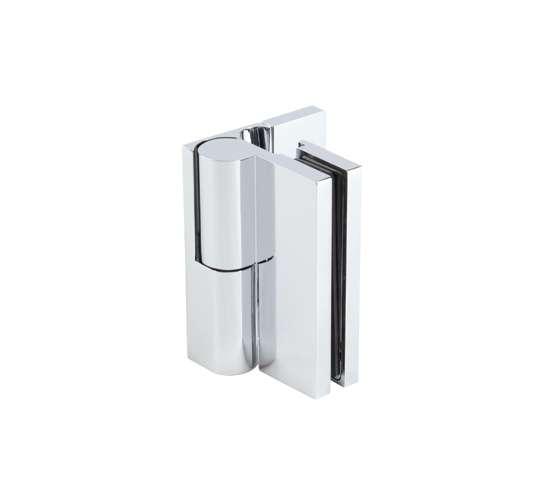 ELENA Duschtürband Wand//Glas 90° glanzverchromt Hebe//Senk ~ 52.07.0100//-10 1 St