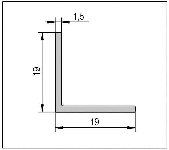 L-Kantenprofil 19 x 19