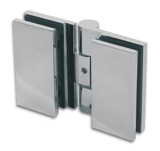 Duschtürband Wellness® Premium Glas-Glas 180° nach innen öffnend DIN rechts