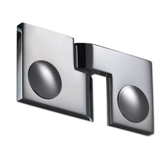 Duschtürband Plan artist Glas-Glas 180° DIN rechts