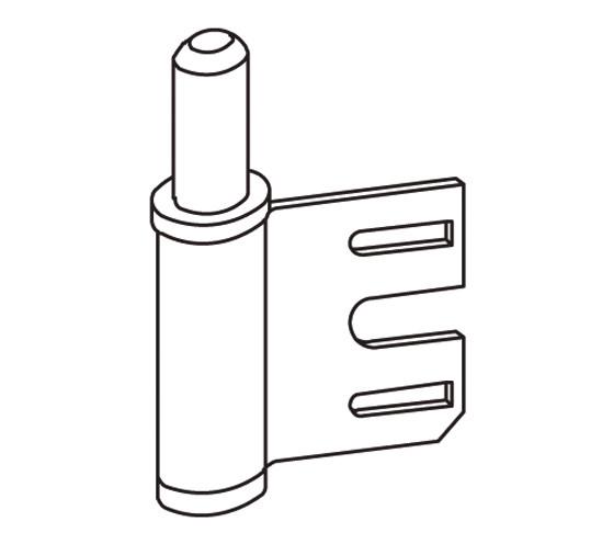 Rahmenteil für 2-tlg. Türbänder und Stahlzargen