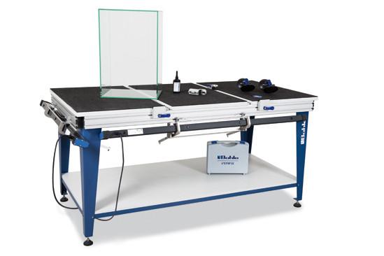 Verifix® Glasklebetisch Deluxe für die 45°/90° Verklebung