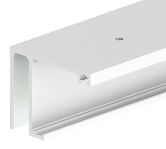 SlideTec optima 50 / 80 Laufschiene Deckenmontage mit Festverglasung