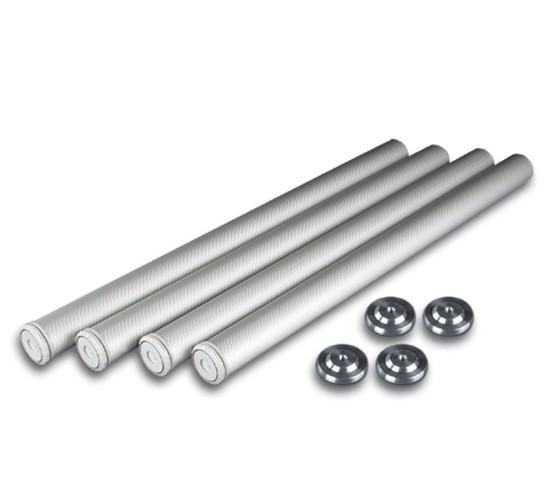Tischbein · Aluminium geriffelt