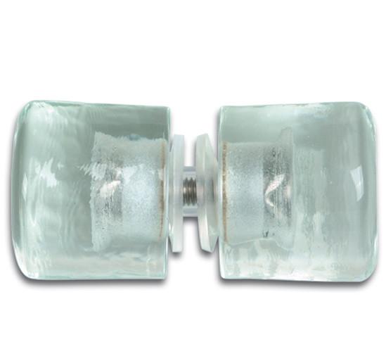 Duschtürknopf Kristallglas beidseitig