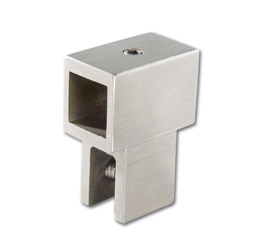 Verbinder 180° mit Glasanschluss Bohle square 15x15