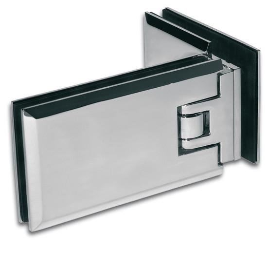 Duschtürband Milano Glas-Glas 90°