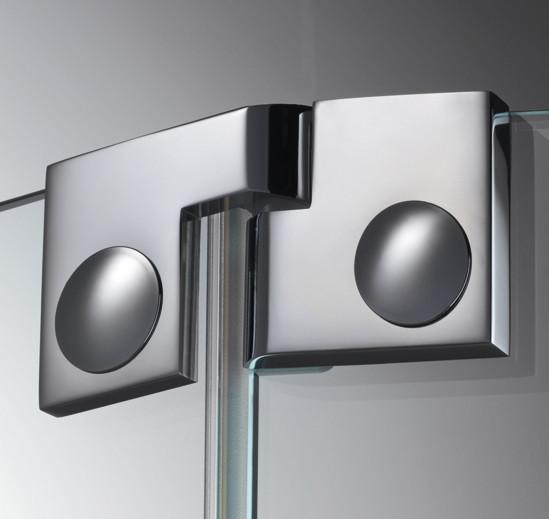 Duschtürband Plan artist Glas-Glas 135° DIN links
