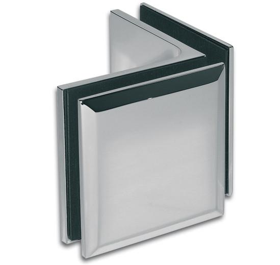 Winkelverbinder Milano Glas-Glas 90°