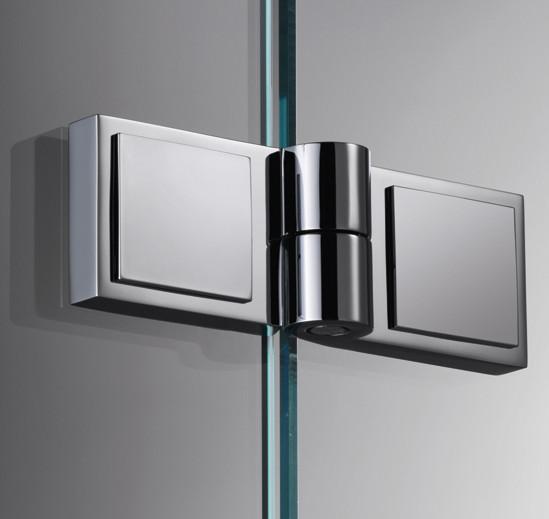 DIN направление справа Фурнитура для душевых кабин Plan square стекло - стекло 180°