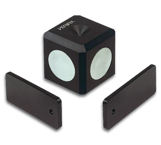 Magnetwürfel Verifix® mit 2 Fixierblechen