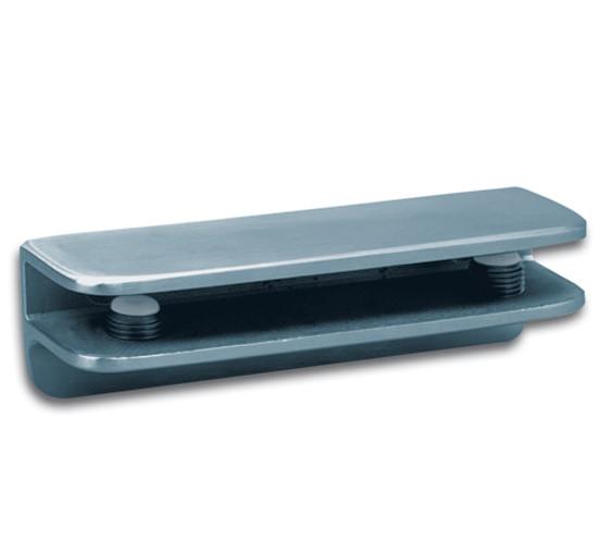Glasplattenträger 100 x 27 mm mit unterer Abstützung