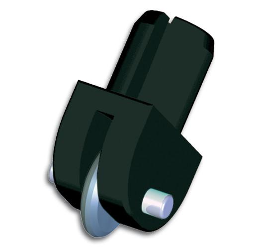 Silberschnitt® Rädchenträger 417 aus Kunststoff mit HM-Schneidrädchen