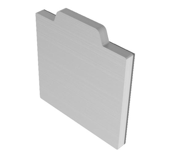 SlideTec modul 80G Abdeckkappen Deckenmontage