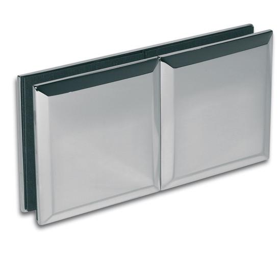 Längsverbinder Milano Glas-Glas 180°