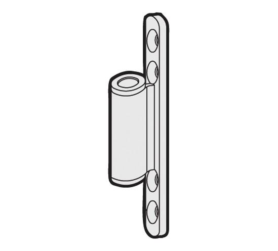 Rahmenteil zum Aufschrauben für 3-tlg. Türbänder und Holzzargen