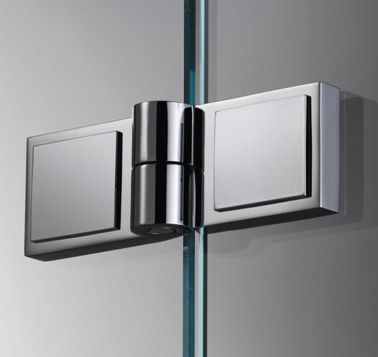 Duschtürband Plan square Glas-Glas 180° DIN links