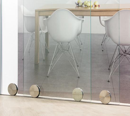 SlideTec Premium Floor Set Deckenmontage 2-flügelig