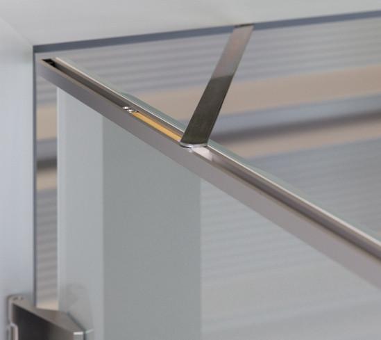 Türöffnungsbegrenzer für Ganzglastüren