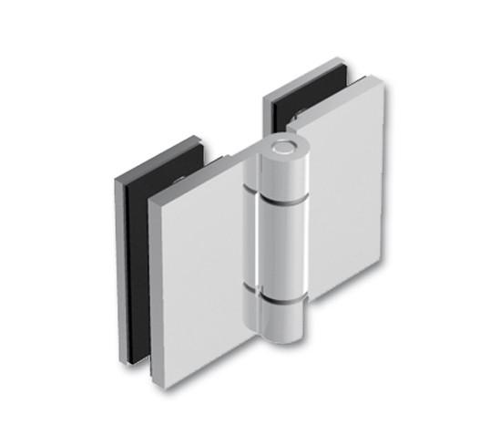 Duschtürband Wellness® Glas-Glas 180° nach außen öffnend