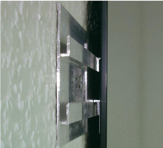 Gu as invisibles para espejos perfiles para acristalamiento y espejos bisagras para - Fijaciones para espejos ...