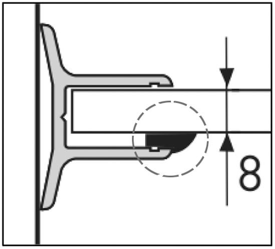 Aqua Gummidichtung für Festverglasung für 8 mm