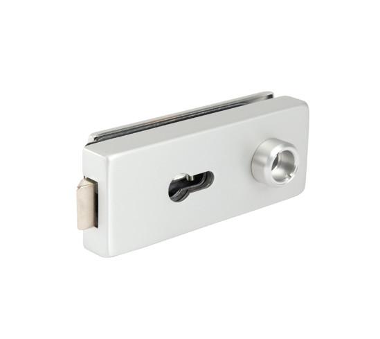 Glasdörrlås Studio Private Line kantig profilcylinder låsbart, inte självstängande