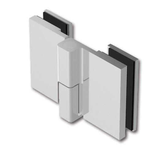 Duschtürband Crossover Pur Glas-Glas 180° nach außen öffnend, DIN links