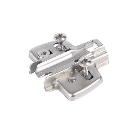 Навинчивающаяся крестовая монтажная пластина полностью или частично накладные Расстояние 5 mm