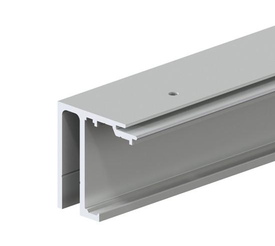 SlideTec optima 150 Laufschiene Deckenmontage mit Festverglasung