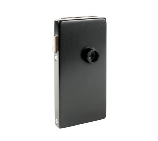 Glasdörrlås Alea DIN höger Utan låsning för 10 mm Glas med 24 mm Falsdjup