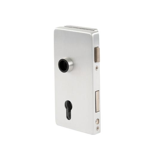 Glasdörrlås Alea DIN vänster profilcylinder för 10 mm Glas med 24 mm Falsdjup