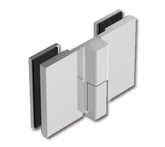 Duschtürband Crossover Pur Glas-Glas 180° nach außen öffnend, DIN rechts