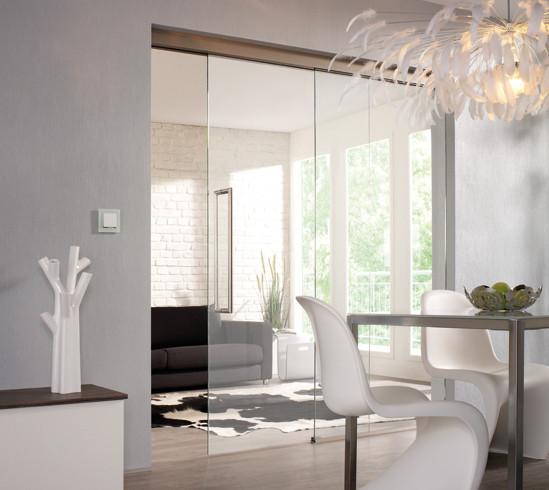 slidetec optima 150 set montage au plafond sans amortisseur fermeture automatique 1 vantail. Black Bedroom Furniture Sets. Home Design Ideas