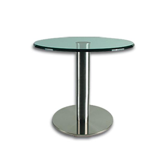 Tischsäule aus Edelstahl