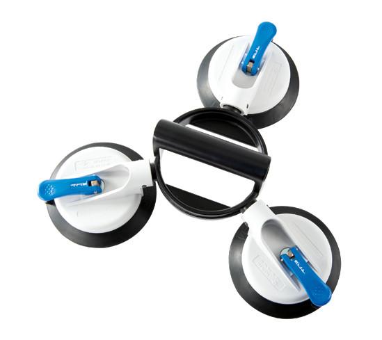Veribor® suglyftare av plast med 3 ledade och stora sugplattor