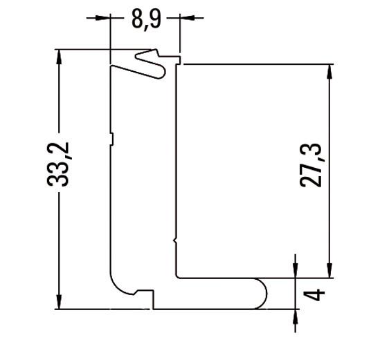Klemmstück für Wandanschlussprofil inkl. Einlagen und Schraube