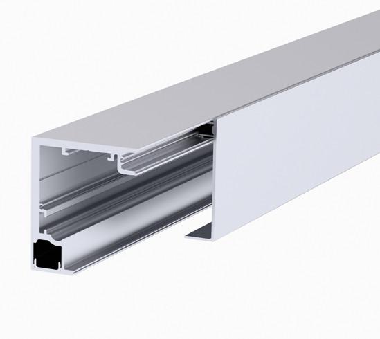Bohle MasterTrack® FT profielset plafondmontage met vaste beglazing