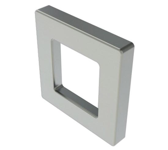 Griffmuschel Quadratisch Zum Aufkleben Glastürgriffe