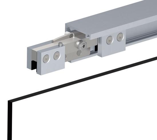 SlideTec optima 80 Set Deckenmontage mit Einzugsdämpfung 1-flügelig