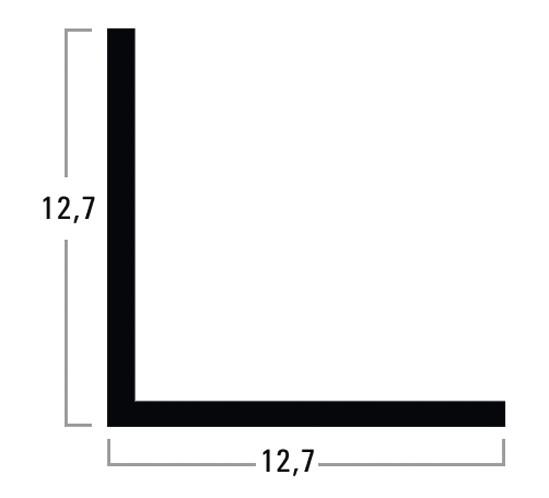 L-Kantenprofil 12,7 x 12,7