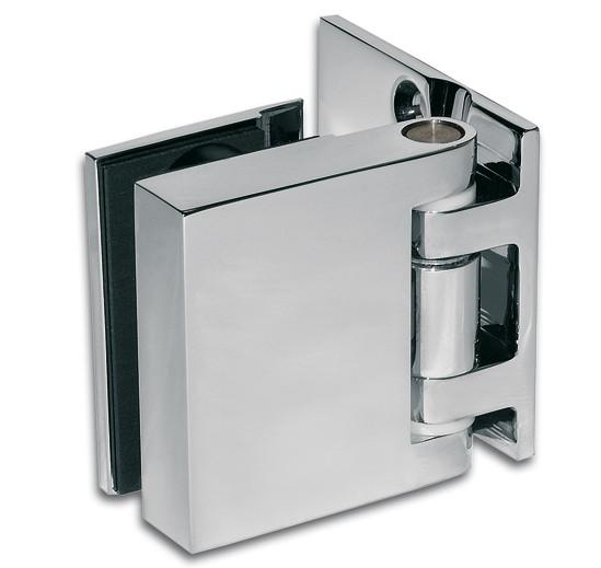 Duschtürband Quadrato Glas-Wand 90° nach außen öffnend einseitige Wandmontage