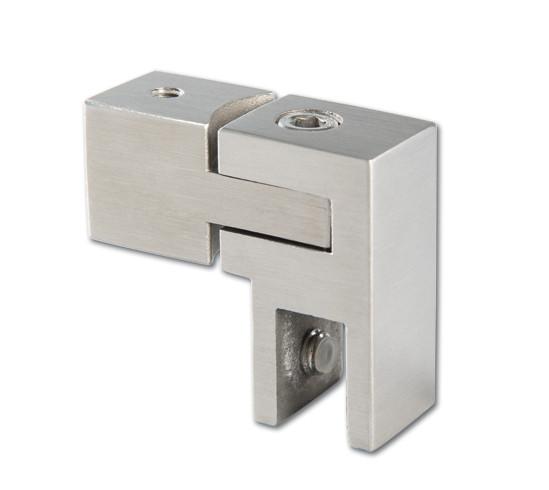 Glasanschluss verstellbar Bohle square 15x15