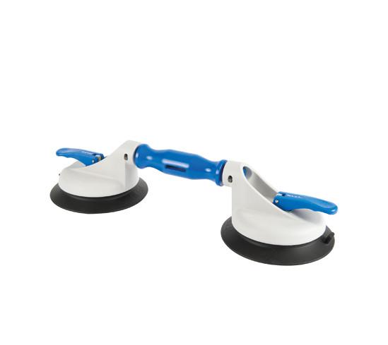 Veribor® suglyftare av plast med 2 ledade och stora sugplattor
