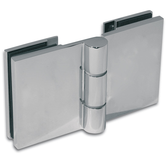 Duschtürband Wellness® Premium Glas-Glas 180° nach außen öffnend DIN rechts