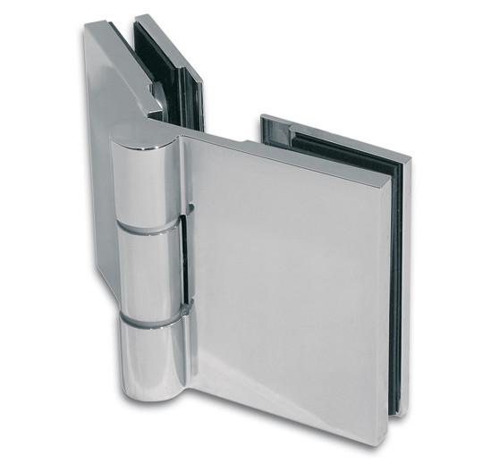 Duschtürband Wellness® Premium Glas-Glas 135° nach außen öffnend DIN links